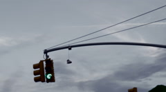 Shoes Hanging on Wire Shoefiti Ghetto Poverty Poor Gritty Urban Inner City NYC Stock Footage