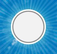 Frame on Sunny Shiny Background Vector Illustration - stock illustration