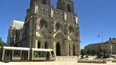 Orleans Cathedral (1)  - Orleans France Stock Footage