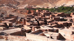 village houses in Ounila valley in the foothills of the Atlas mountains, Tamdagh - stock footage