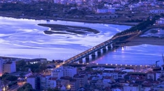 Eiffel Bridge - Viana do Castelo Stock Footage