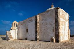 church of our lady of grace  at sagres fortress,algarve, portugal - stock photo