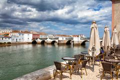 historic architecture in tavira city, algarve,portugal - stock photo