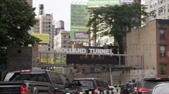 Holland Tunnel Entrance  Stock Footage