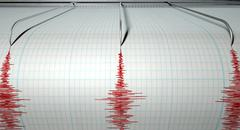 seismograph earthquake activity - stock illustration