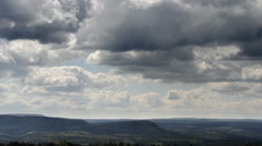 Cloud formation over Saxon Switzerland Stock Footage
