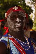 Feast and tradition diola in senegal - stock photo