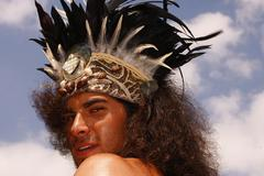 Feast Tribes and Tradition in Easter Island - stock photo