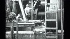 Vintage oil roughneck drilling,4k Stock Footage