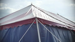 Abandoned circus tent Stock Footage