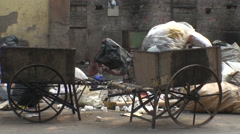 People scavenge through rubbish, Kolkata (formerly Calcutta), India 4 - stock footage