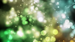 Colorful Bokeh Particles Background - Slow Moving Stock Footage