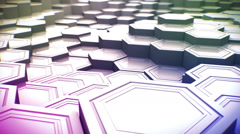 Moving Background. Fly Over Landscape of Hexagonal Pillars Stock Footage