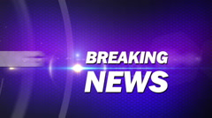purple breaking news generic - stock footage