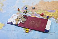 British passport, travel - stock photo