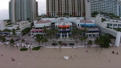 Fort Lauderdale Beach aerial A1A Stock Footage