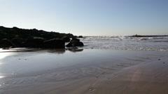Rockaway Beach at sunrise. Stock Footage