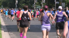 Gay pride and remembrance marathon run Stock Footage