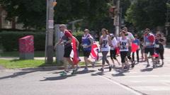 Toronto gay pride remembrance run 2014 Stock Footage