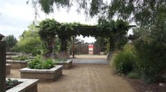 Green Terrace Walkthrough Springs Preserve Stock Footage