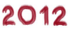 number 2012 - stock illustration