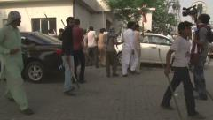 Stock Video Footage of Rioters attack Police in Islamabad, Pakistan