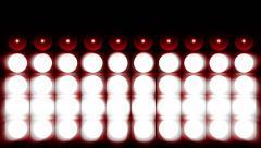 Spotlight flash lighting bulb Stock Footage