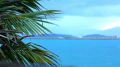 Koh Samui beach in bad tropical weather. Video Stock Footage