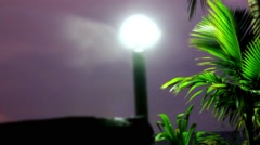 Evening mood in Koh Samui view on sky, lantern and palm. Video Stock Footage