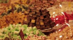 Christmas Market off Albert Square, Manchester, Lancashire, England Stock Footage