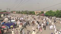 Islamabad Protests Tahir ul Qadri Stock Footage