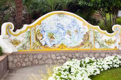 garden of augustus capri, italy - stock photo