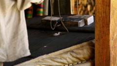 Old blacksmith workshop Stock Footage