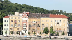 Budapest old house on the banks of the Danube Stock Footage