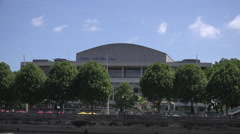 The Royal Festival Hall in London Stock Footage