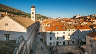 Stock Video Footage of Stradun Street in Dubrovnik, Time-lapse, Dalmatia, Croatia