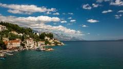 Small Village near Omis, Time-lapse, Dalmatia, Croatia Stock Footage