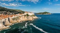 The Old Town of Dubrovnik, Time-lapse, Dalmatia, Croatia - stock footage