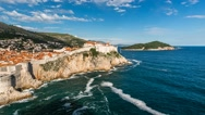 Stock Video Footage of The Old Town of Dubrovnik, Time-lapse, Dalmatia, Croatia