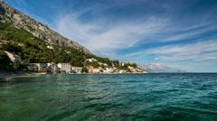 Small Village near Omis, Time-lapse, Dalmatia, Croatia - stock footage