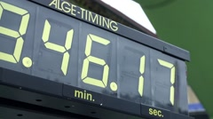 Digital timing clock - stock footage