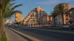 Spain, Mar Menor, sea tourist resort La Manga cityscape, landscape. Stock Footage