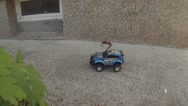 Stock Video Footage of children radio controlled cart