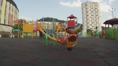 Facilities for children's play Stock Footage