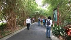 Road to jiuzhaigou valley national park in china near chengdu Stock Footage