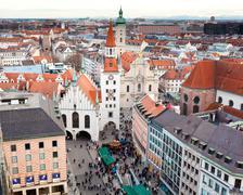 Zodiac clock tower, munich, germany Stock Photos