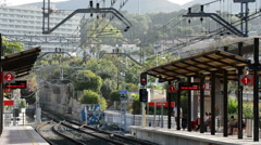 Train station Stock Footage