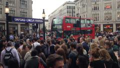 People at Oxford Circus underground station / street, London, UK during the day Stock Footage