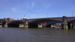 Blackfriars Bridge in London Stock Footage