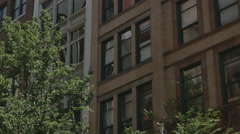 Typical New York Style Apartment Building Establishing Shot Stock Footage
